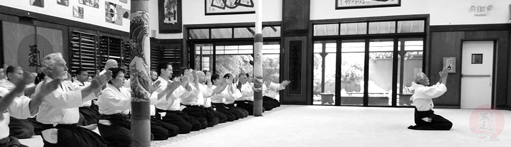 Saotome Sensei bowing in the October 2014 ASU Instructor's Camp.